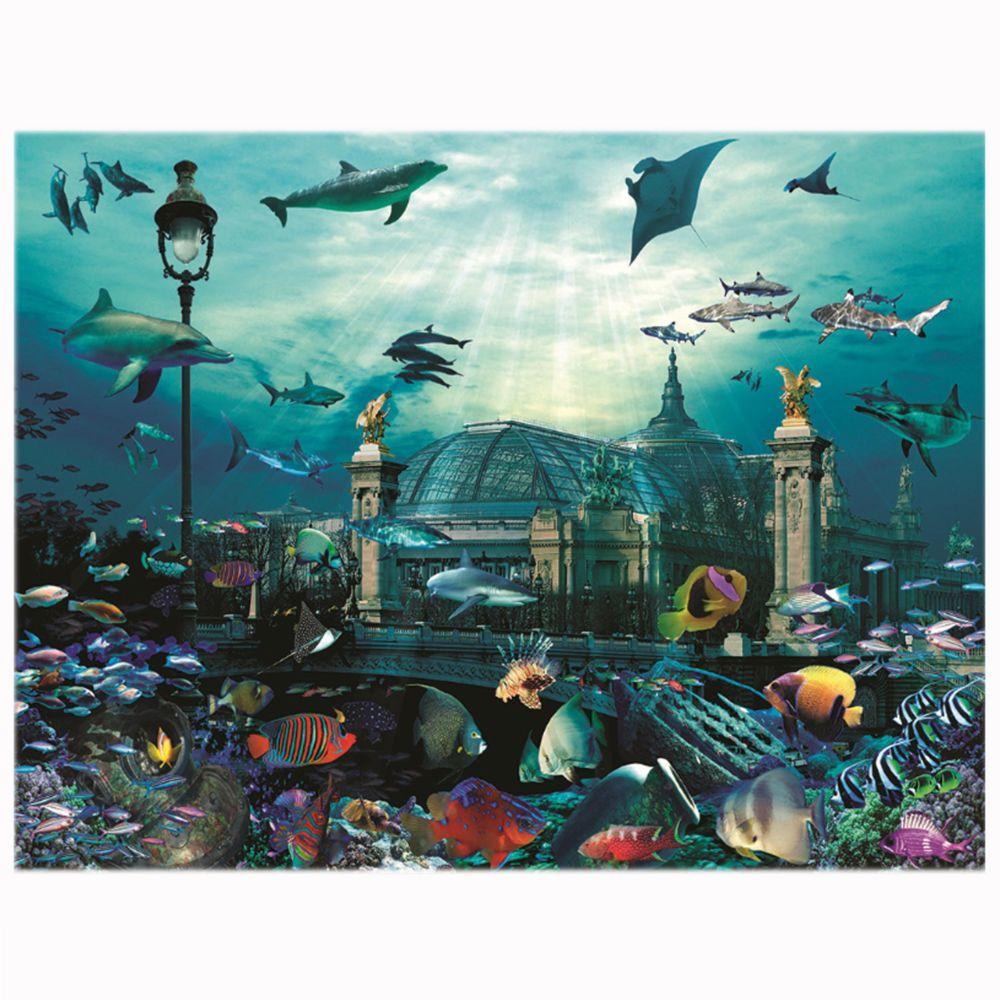 Nathan Puzzle 2000 pièces : Grand palais aquarium