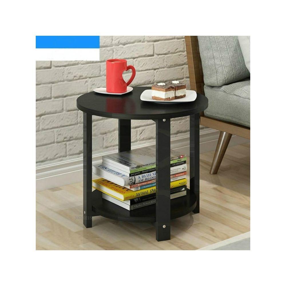 Wewoo Table basse en bois de maison de taille petite de salon moderne simple de sofa de chambre à coucher ronde de de thétaill