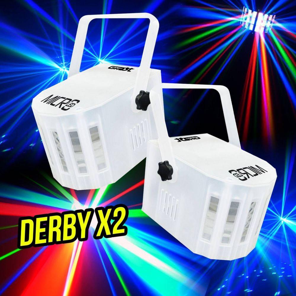 Ghost 2 Jeux de lumière effet Derby 4 Leds 4 Couleurs 3W RGBW - Mode musical/auto GHOST MICROLED