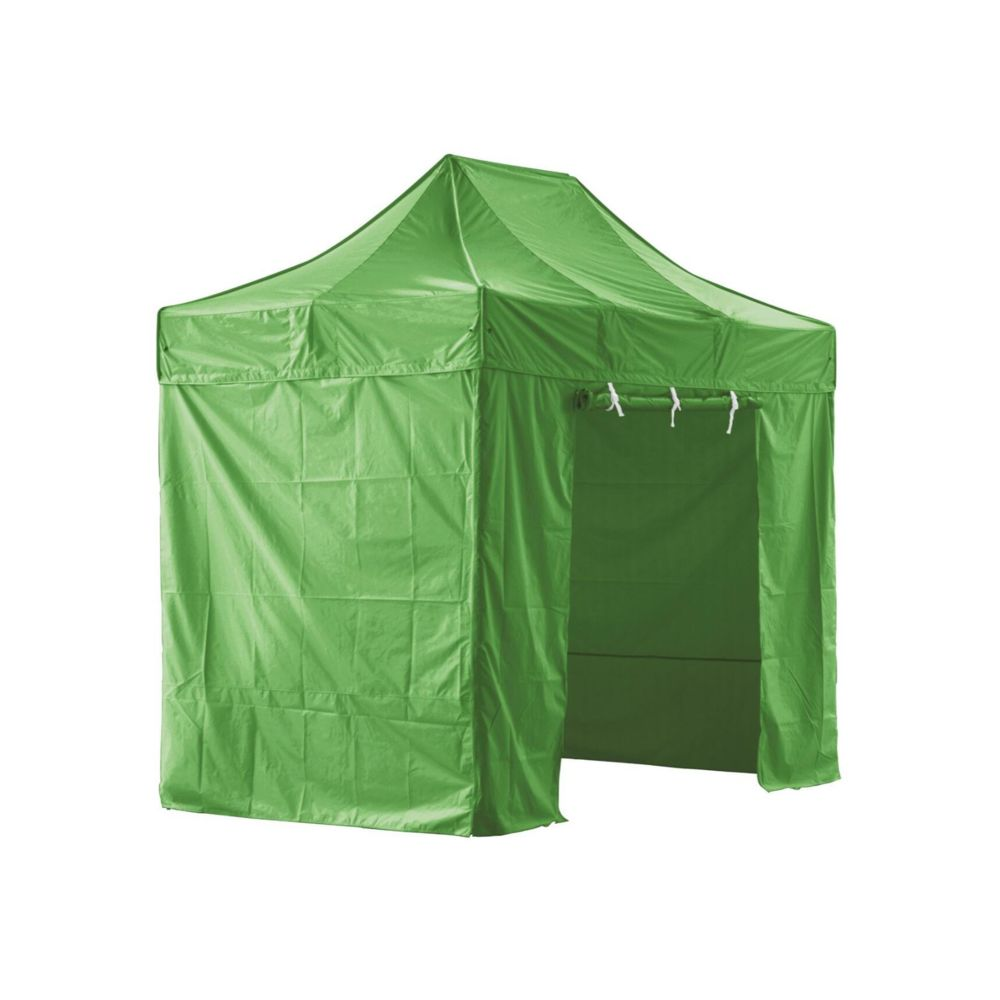 Greaden GREADEN - Tente pliante verte avec 4 murs amovibles 2x3m SUPER - Tube 40mm en aluminium - Bâche 420D - Barnum pliante -