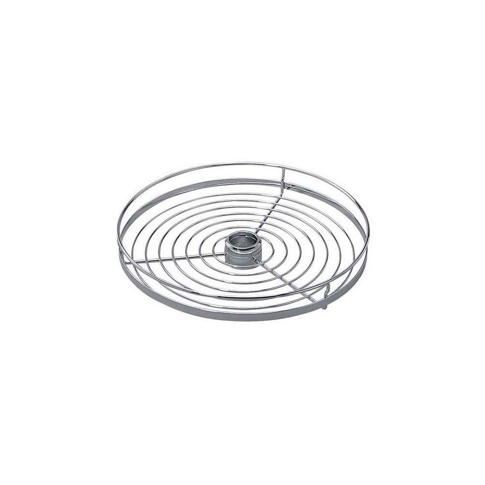 Tcasystem Corbeille ronde - Diamètre : 450 mm - Hauteur : 70 mm - Matériau : Inox - Décor : Chromé - Pour tube de diamètre : 50 mm