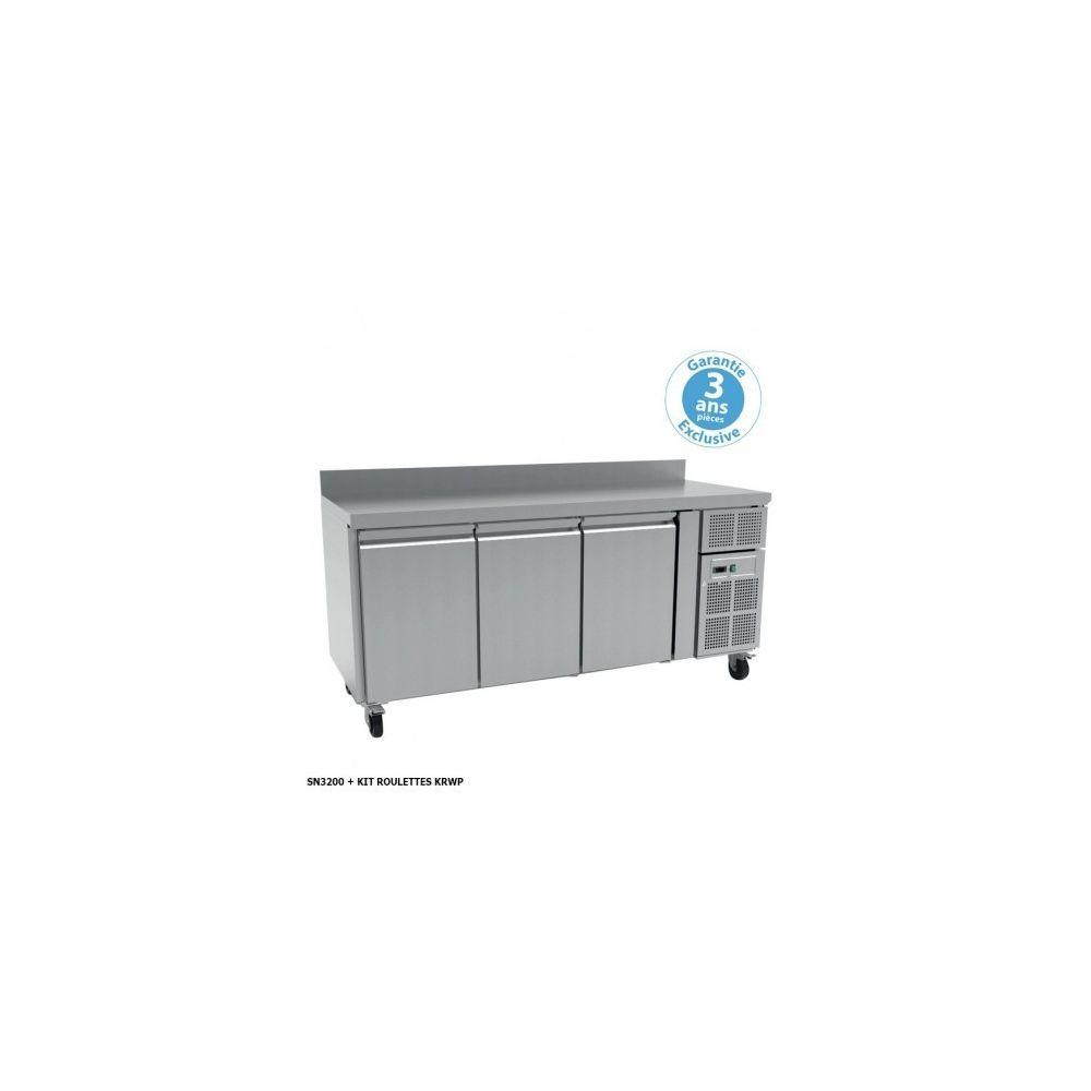 Furnotel Table réfrigérée positive 600 - 3 portes 386 litres sans dosseret - Furnotel - 600