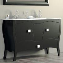 Soldes Meuble grande vasque 2 robinets - 2e démarque Meuble ...