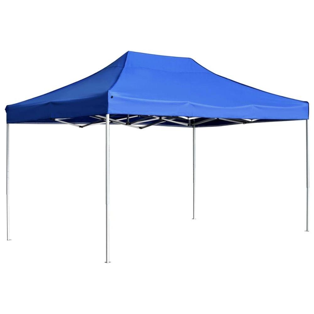 Vidaxl vidaXL Tente de Réception Pliable 4,5x3 m Bleu Pavillon Chapiteau Tonnelle