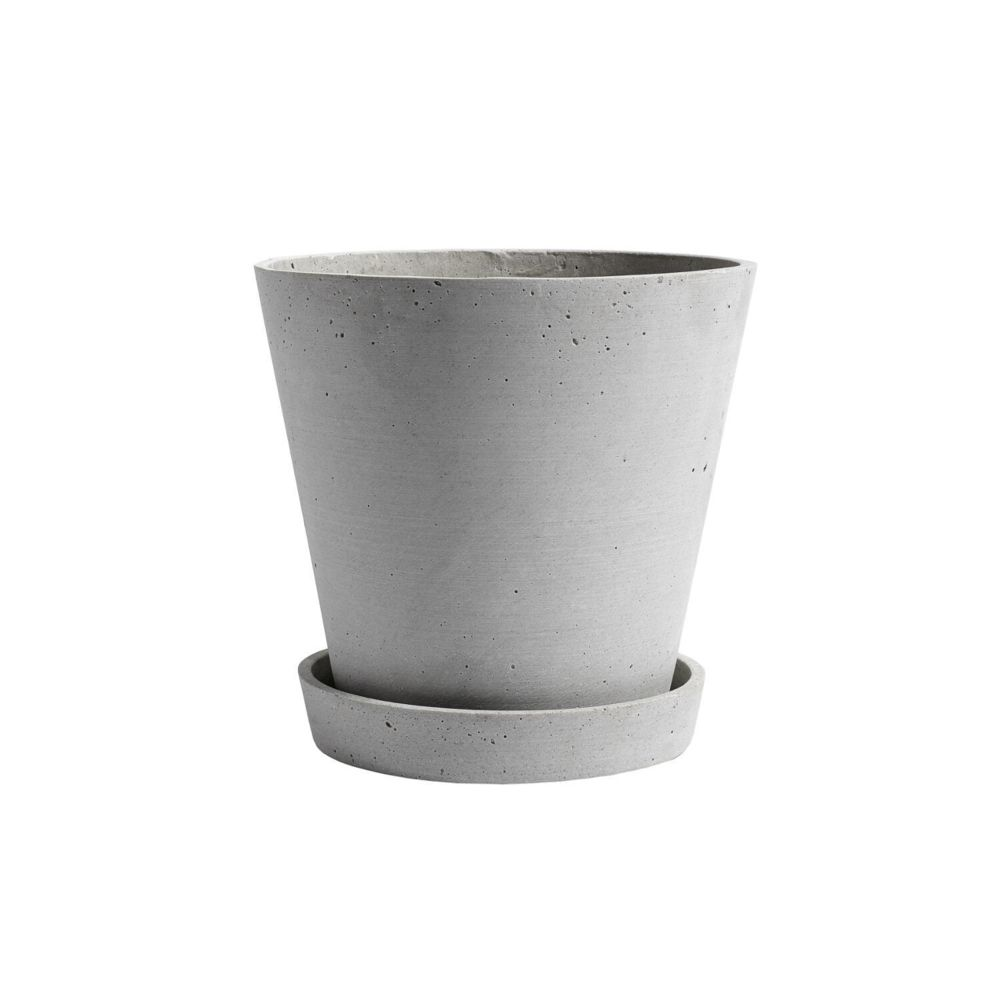 Hay Pot de fleur avec soucoupe - gris - XL