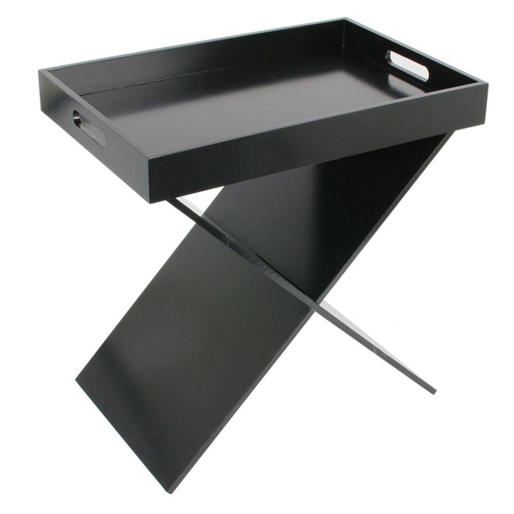 The Home Deco Factory Table d'appoint design Géométique - L. 46 x H. 48 cm - Noir