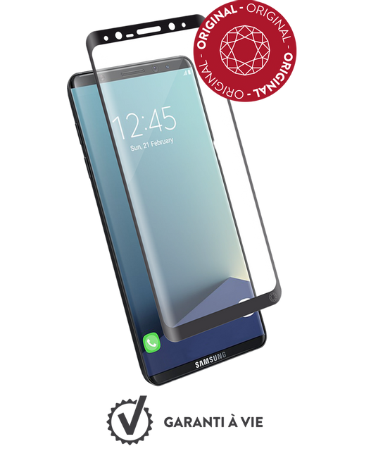 Force Glass - Verre trempé Galaxy S8 - Transparent Force Glass   - Protection écran tablette