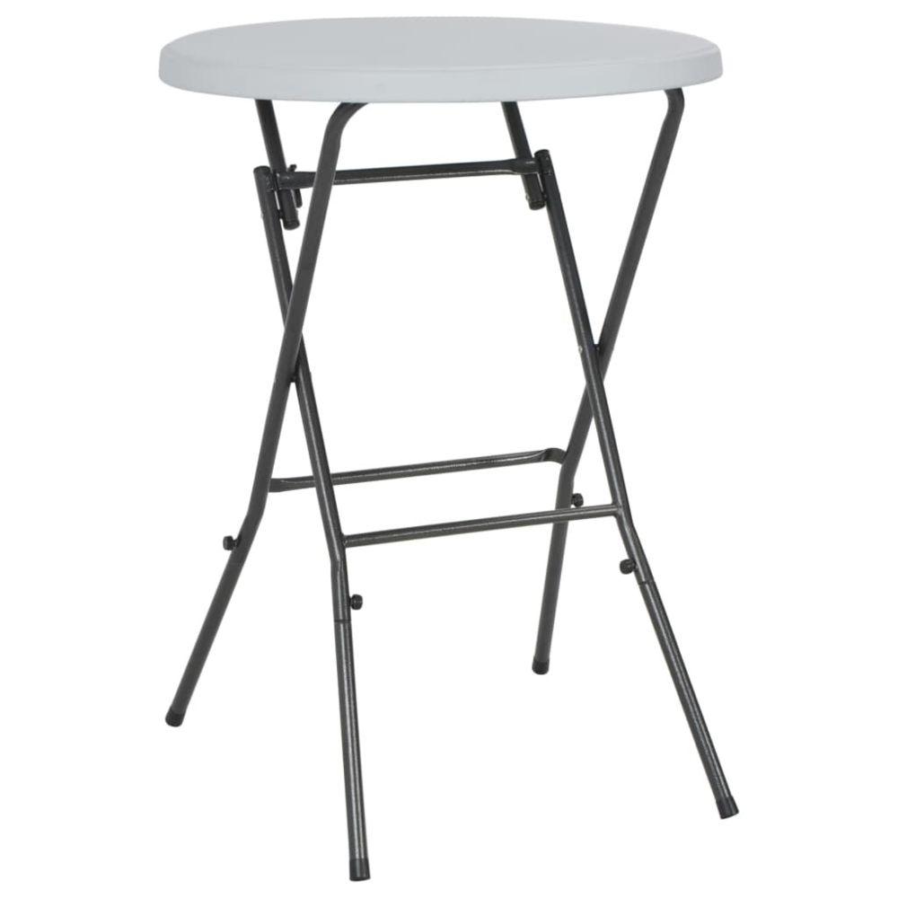 Vidaxl Table de bar pliante HDPE 80 x 110 cm Blanc - Meubles - Meubles de jardin - Tables d'extérieur | Blanc | Blanc