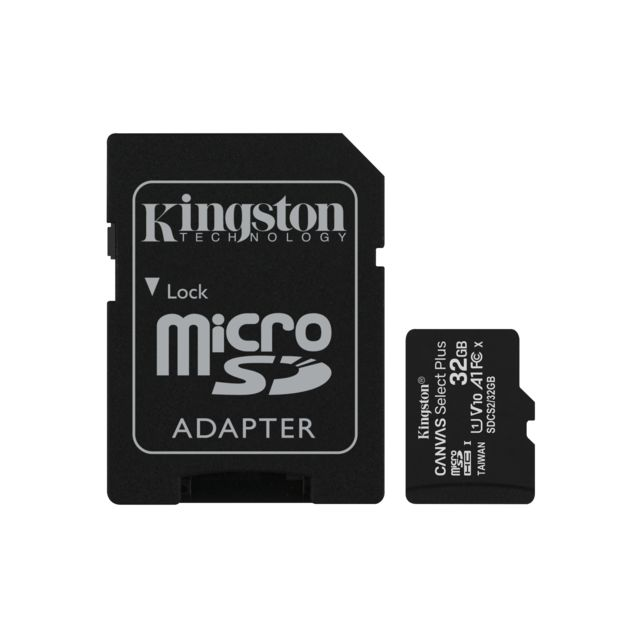 Carte Micro SD Kingston Canvas Select Plus 32 Go