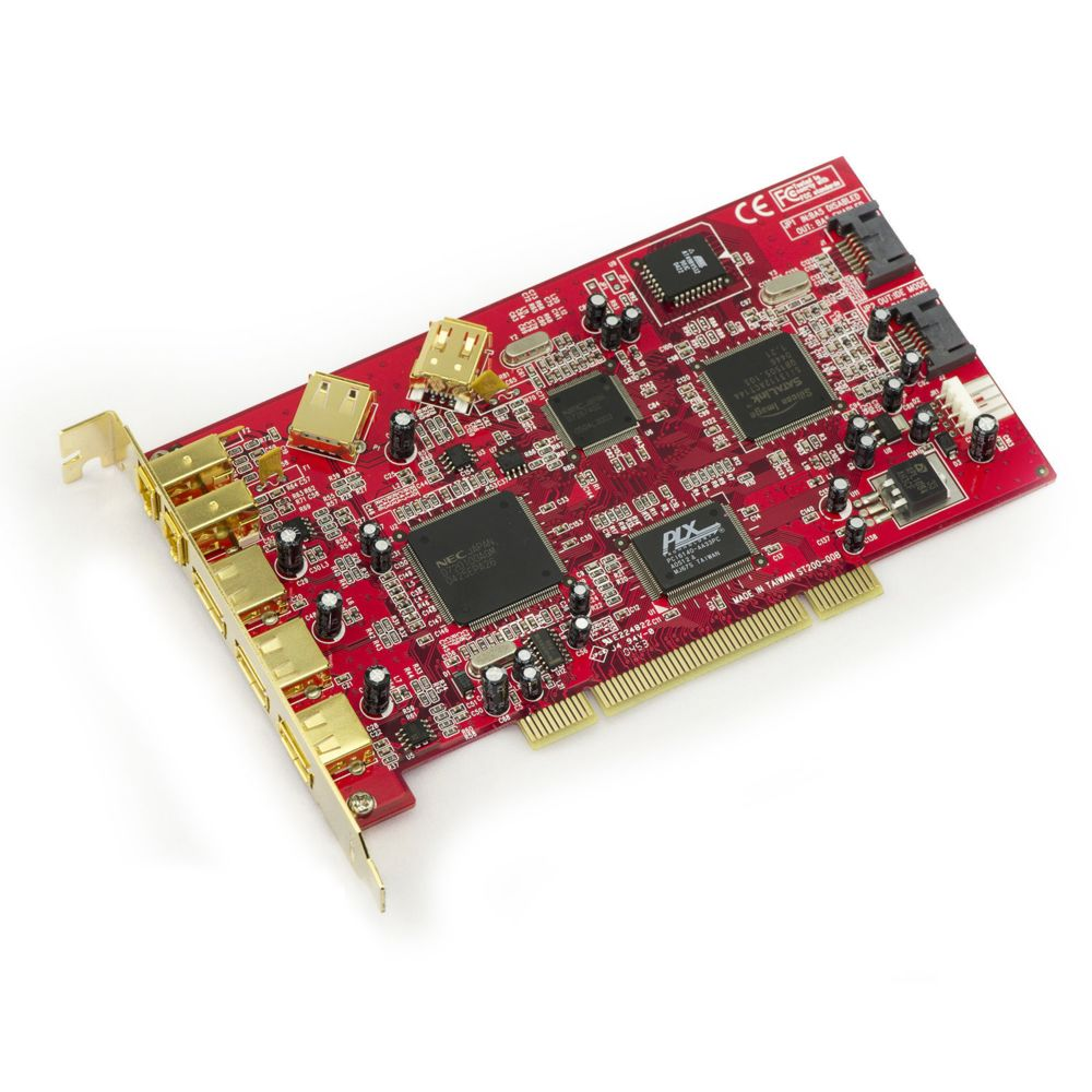 2+1 Sorties Chipset TI XIO2213BZAY avec /équerres Low et High Profile KALEA INFORMATIQUE Carte Contr/ôleur PCIE FIREWIRE 400 IEEE1394A sur Port PCI Express 1x PCI-E
