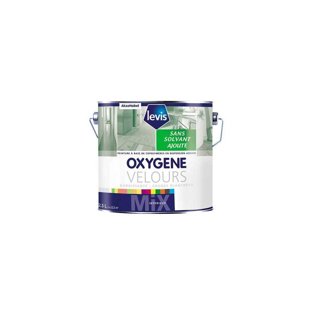 Levis OXYGENE VELOURS BLANC 15L Peinture 0% de solvant ajouté d'aspect velours pour murs intérieurs - Levis