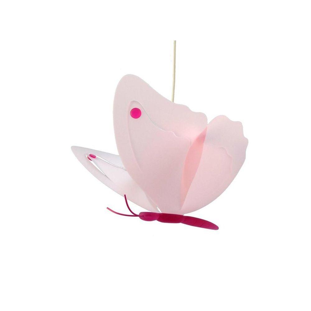 Rosemonde Et Michel PAPILLON-Suspension L42cm rose et framboise Rosemonde et Michel Coudert - designé par Rosemonde et Michel Coudert
