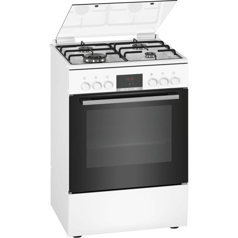 Bosch bosch - cuisinière mixte a 66l 4 feux blanc - hxr39ih20