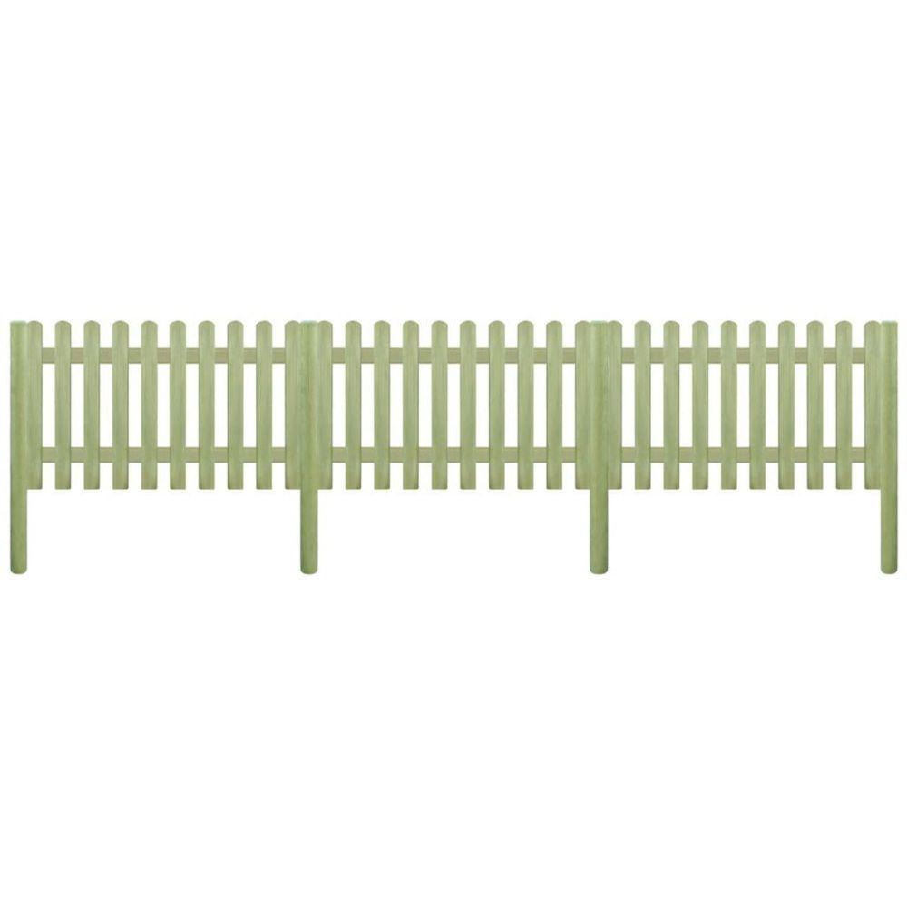 Vidaxl Clôture avec poteaux Bois de pin imprégné 5,1 m 150 cm 6 / 9 cm | Brun