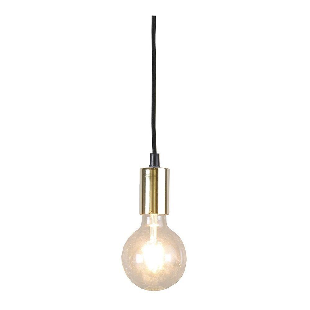 White Star Suspension dorée E27 cable textile
