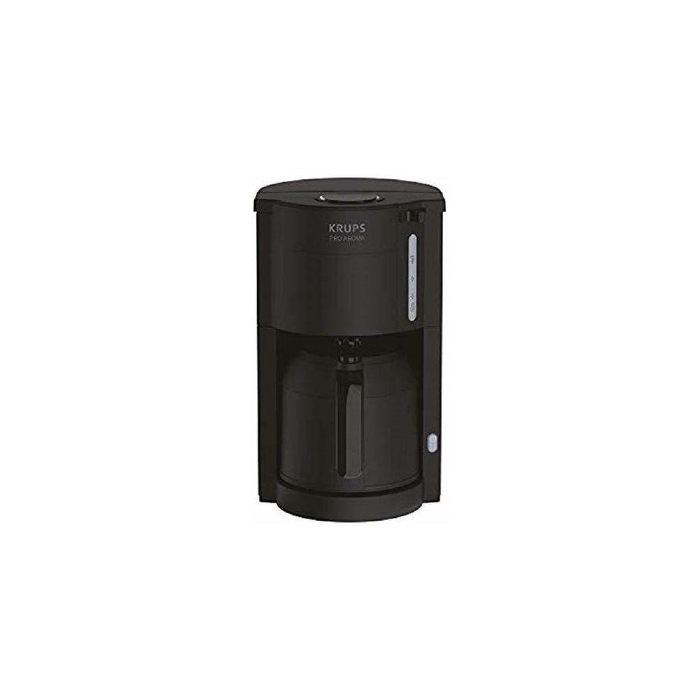 Krups cafetière électrique de 1L pour 12 tasses avec verseuse isotherme noir