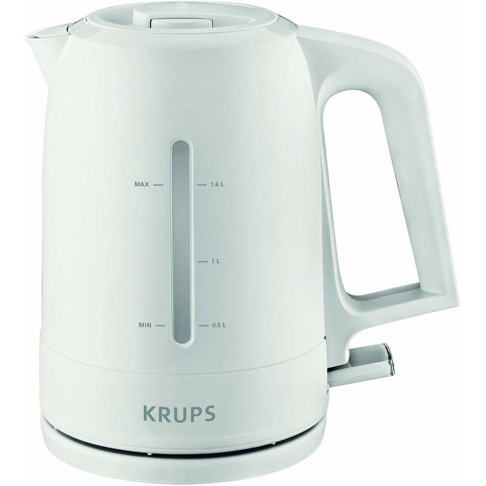 Krups bouilloire électrique de 1,6L sans fil 2400W blanc