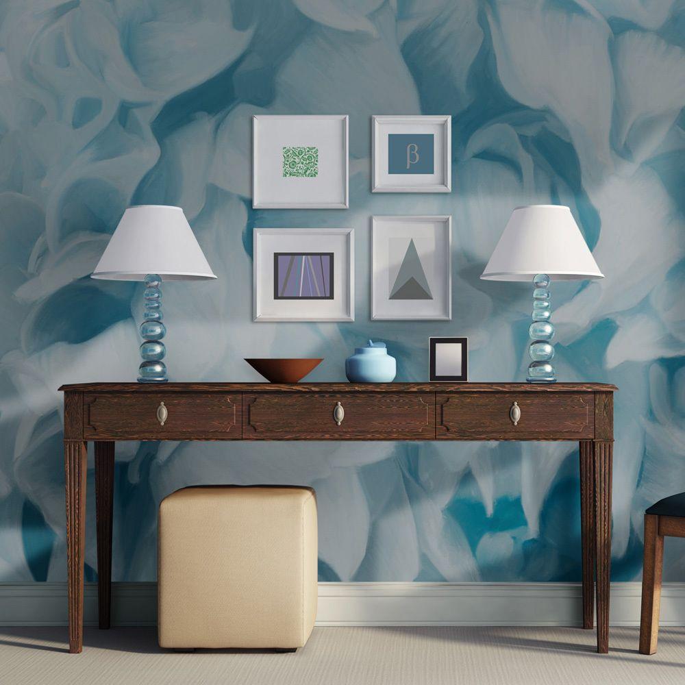 Bimago Papier peint - azalée (bleu) - Décoration, image, art   Fleurs  