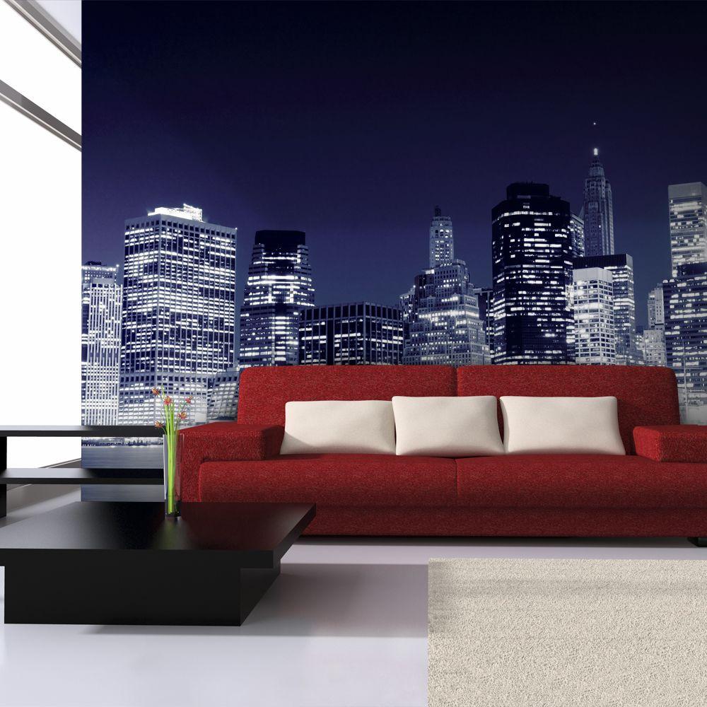 Bimago Papier peint | Panorama de Manhattan la nuit, New York City | 200x154 | Ville et Architecture | New York |