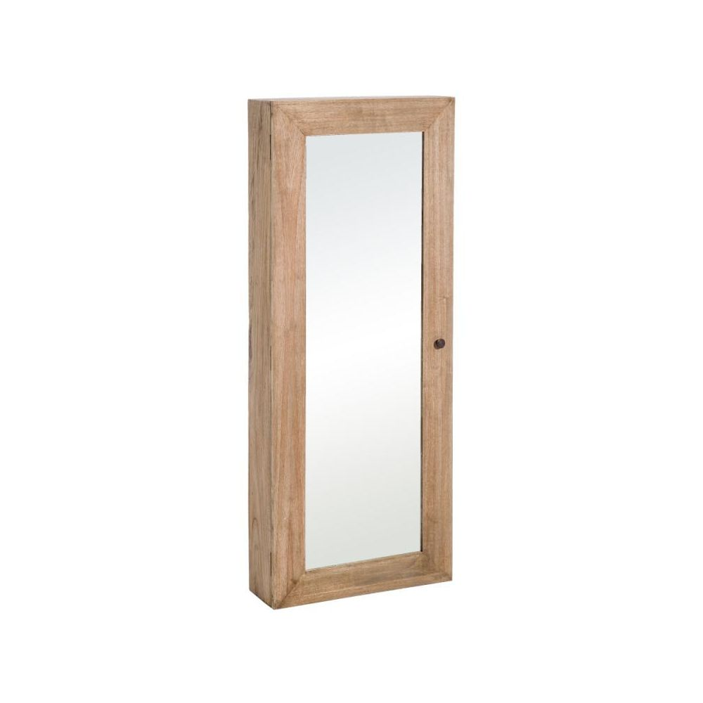 Tousmesmeubles Armoire miroir d'entrée en bois naturel Taille M - MIKTO