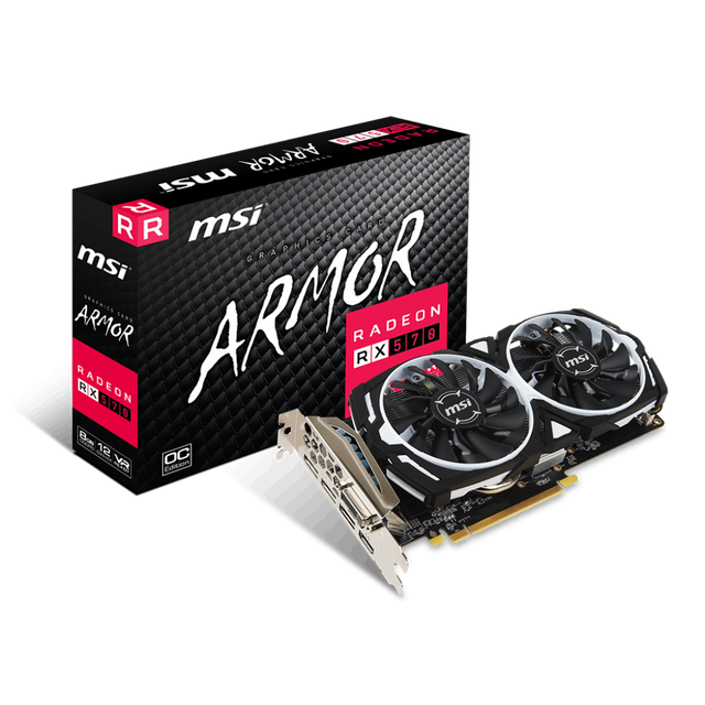 Msi - Radeon RX 570 - ARMOR OC - 8 Go - Carte Graphique AMD