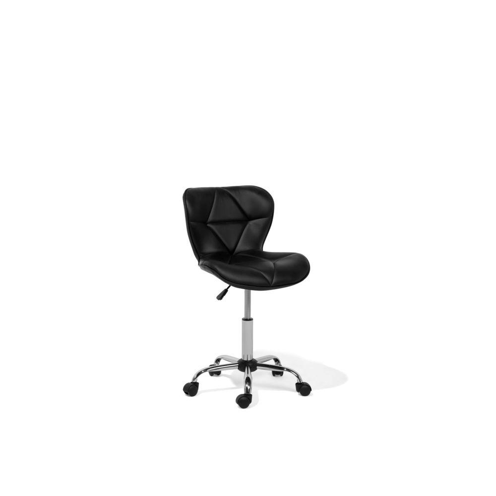 Beliani Beliani Chaise de bureau en simili-cuir noir VALETTA - noir