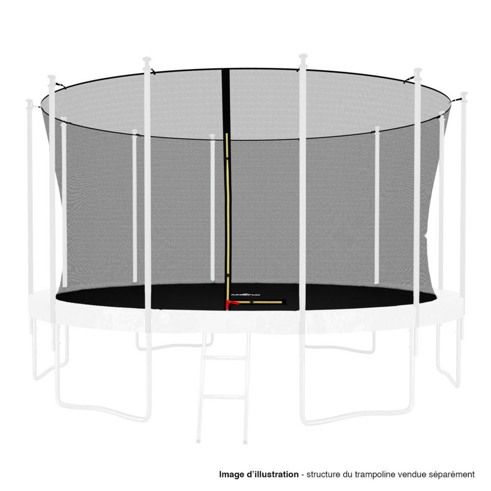 Kaia Sports Filet intérieur de sécurité pour trampoline avec bouchons hauts de perches et ficelle : ø 13Ft, 12 Perches