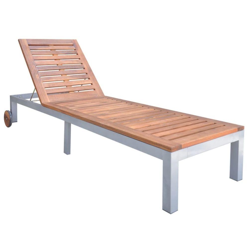 Vidaxl vidaXL Chaise longue Bois d'acacia solide