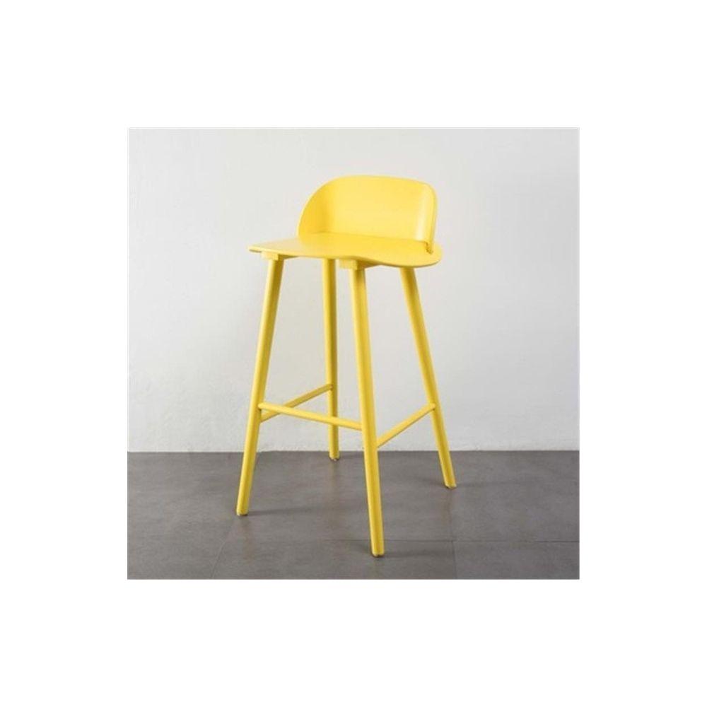 Wewoo Bar et tables hautes à la barre nordique moderne de la mode minimaliste en fer forgé Jaune