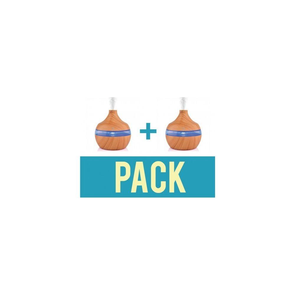 Desineo Pack de 2 Diffuseurs d'huiles essentielles d'aromathérapie 300ml