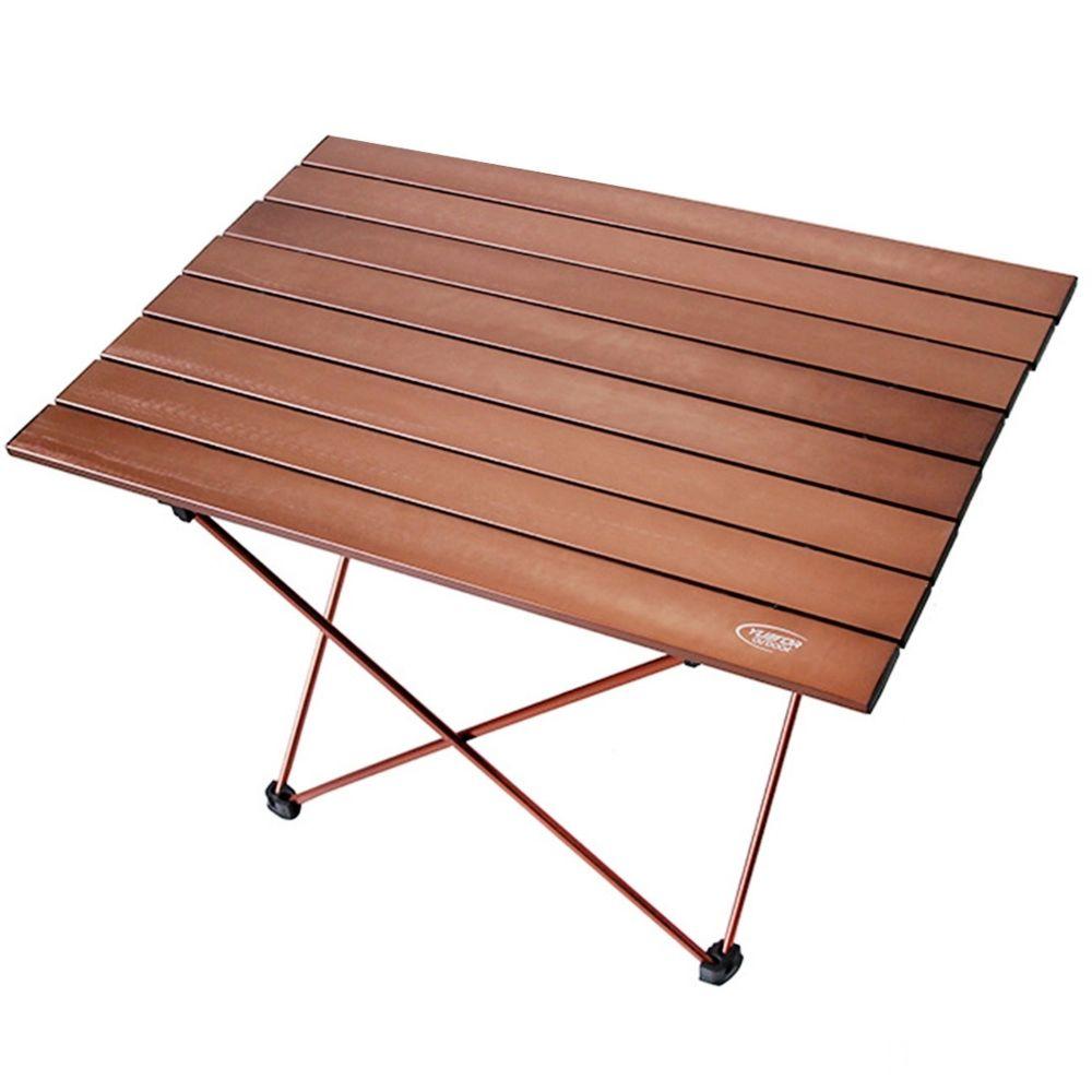 Wewoo Camping en plein air Portable Table Pliante Légère Aviation De Barbecue Aluminium Pour Pique-Nique Taille 68.5x46.5x40.5