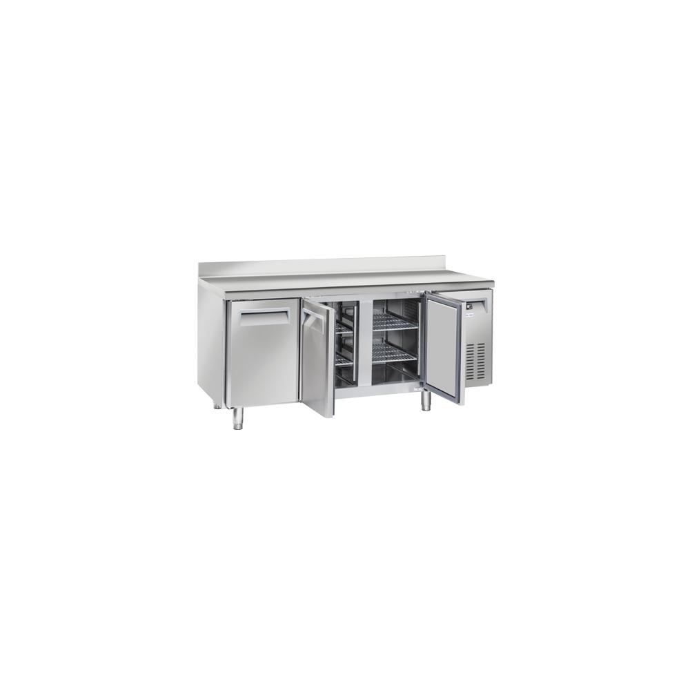 Materiel Chr Pro Table Réfrigérée Positive 3 Portes avec Dosseret - Profondeur 600 - Cool Head - R290A