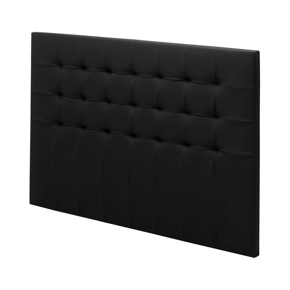 Ebac Tete de lit Charme capitonnée simili Noir L. 150