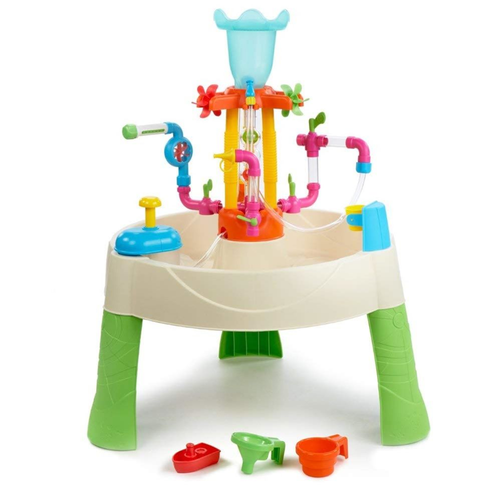 Little Tikes Little Tikes 642296E3 Fountain Factory Table d'activités avec Jeux d'eau et de fontaines