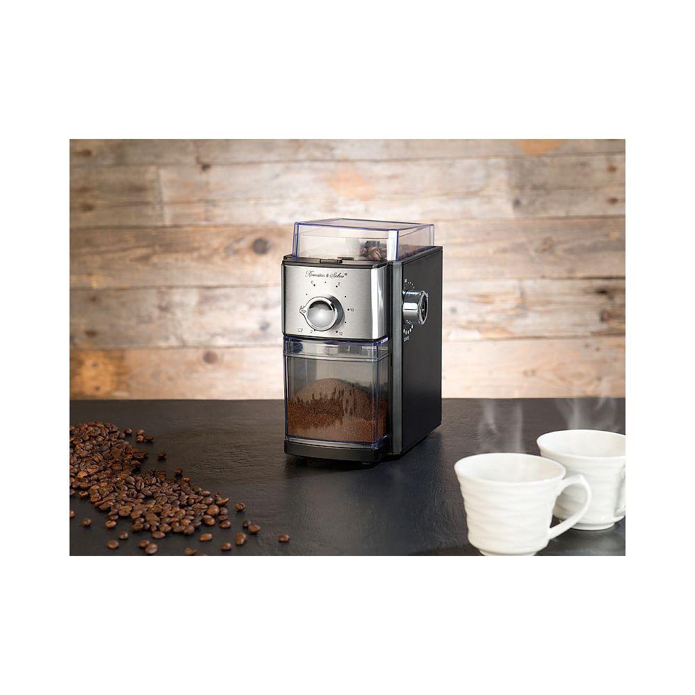 Rosenstein & Sohne Moulin à café électrique 150 W avec mécanisme de broyage à disques MH-70