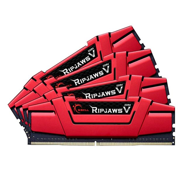 G.Skill - Ripjaws V - 4 x 16 Go - DDR4 3000 MHz CL15 - Rouge - RAM PC