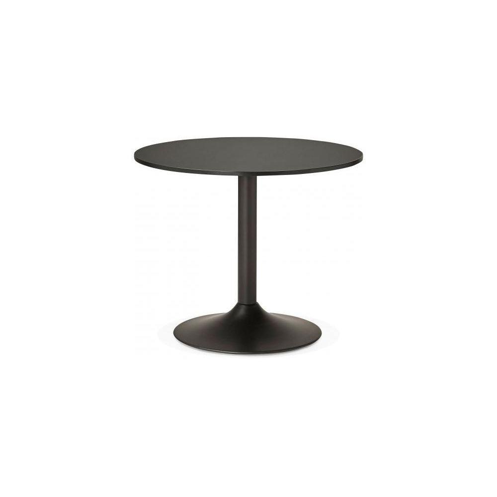 Kokoon Design Table Ronde Bois Noire D90 ALBURY
