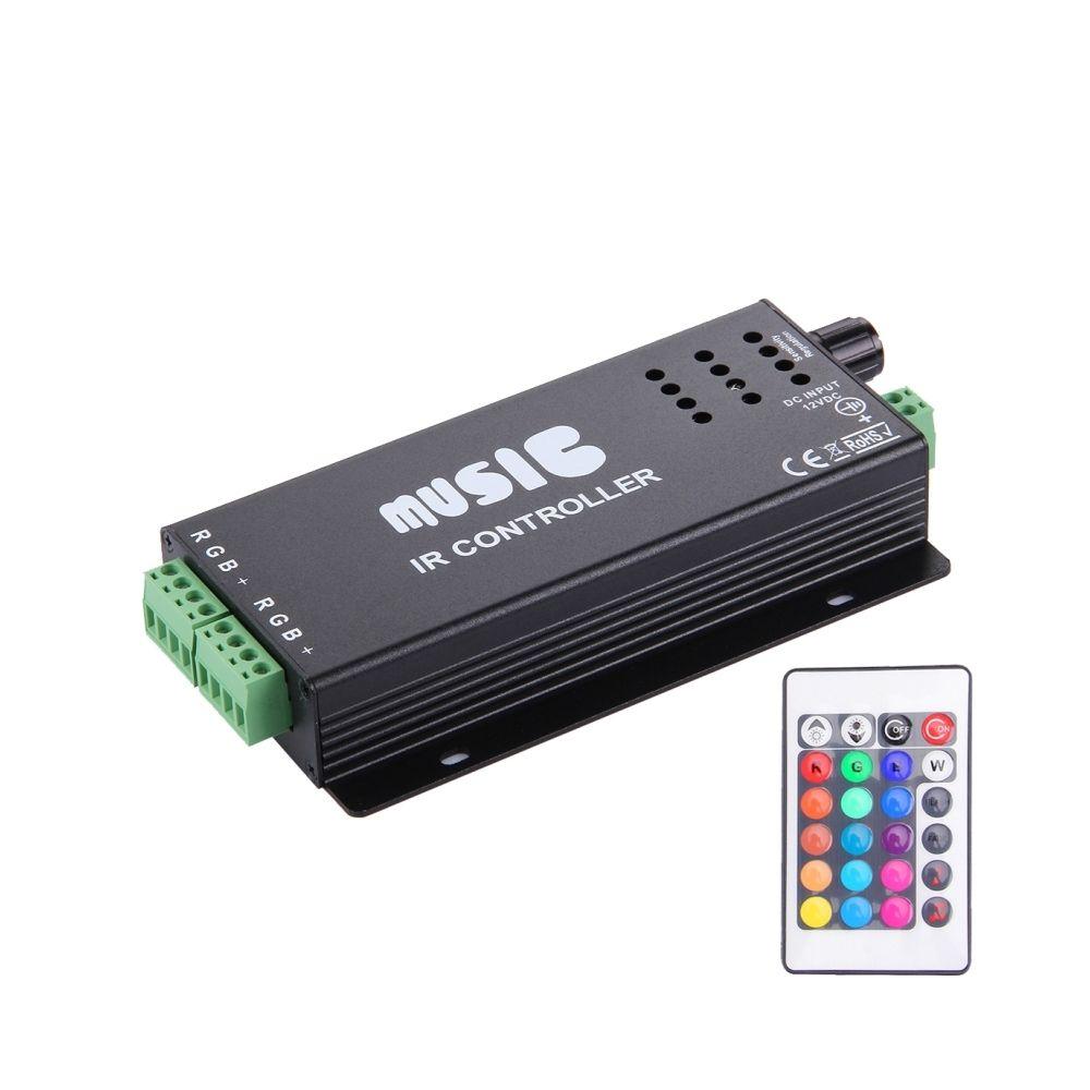 Wewoo SX-020 Sensitivety Régulateur de musique noir IR avec télécommande IR, DC 12-24V