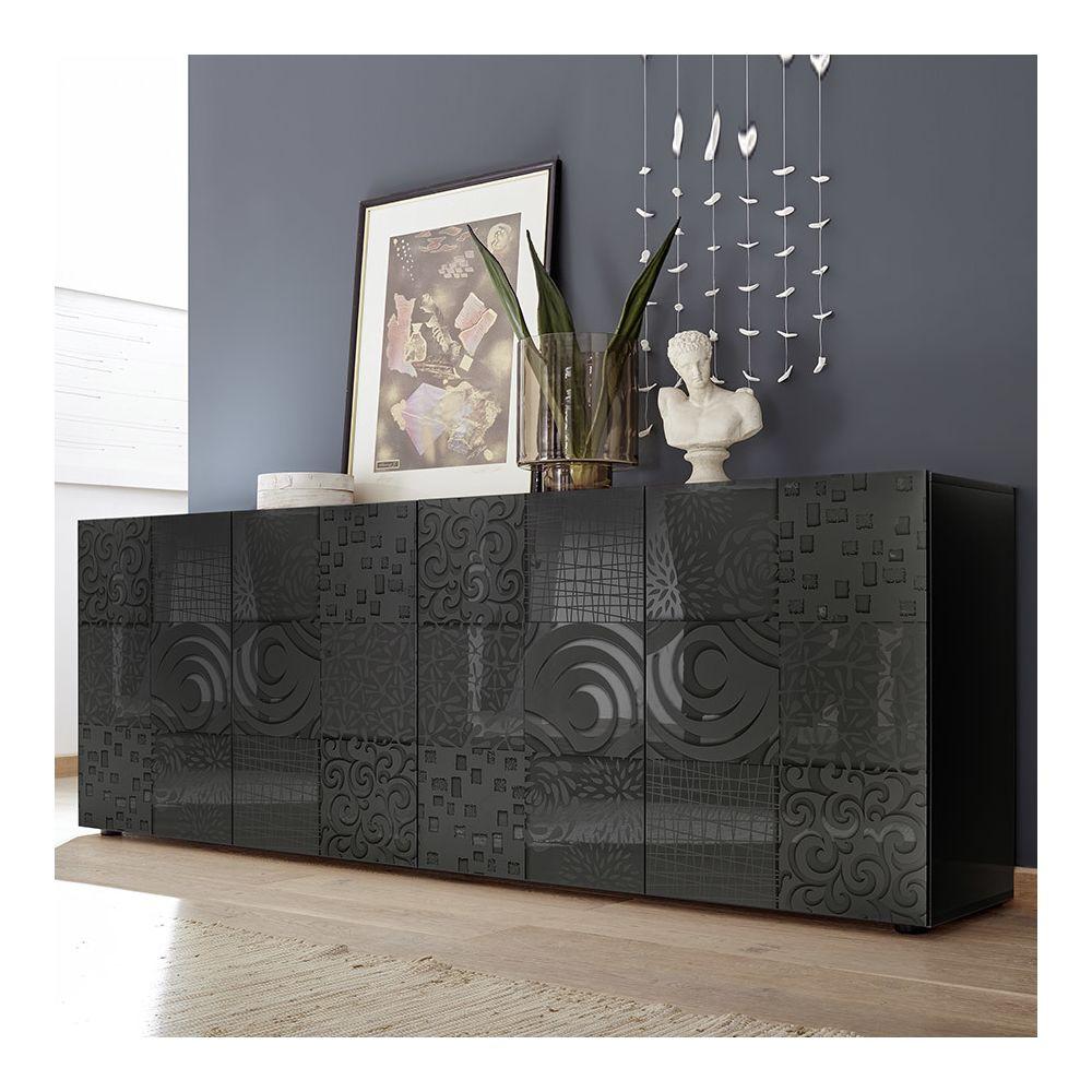 Kasalinea Buffet 240 cm design gris laqué NERINA 2