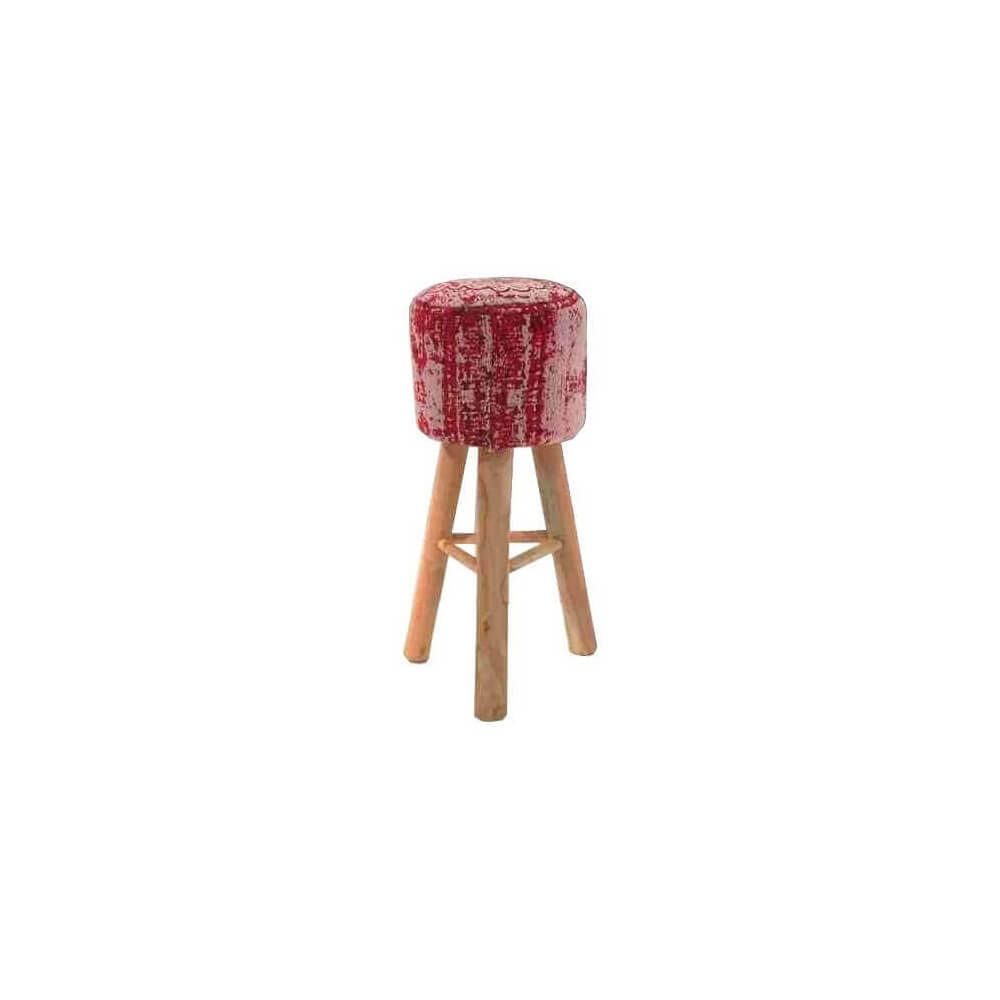 Mathi Design BOHEME - Tabouret de bar Hippie / chic en bois