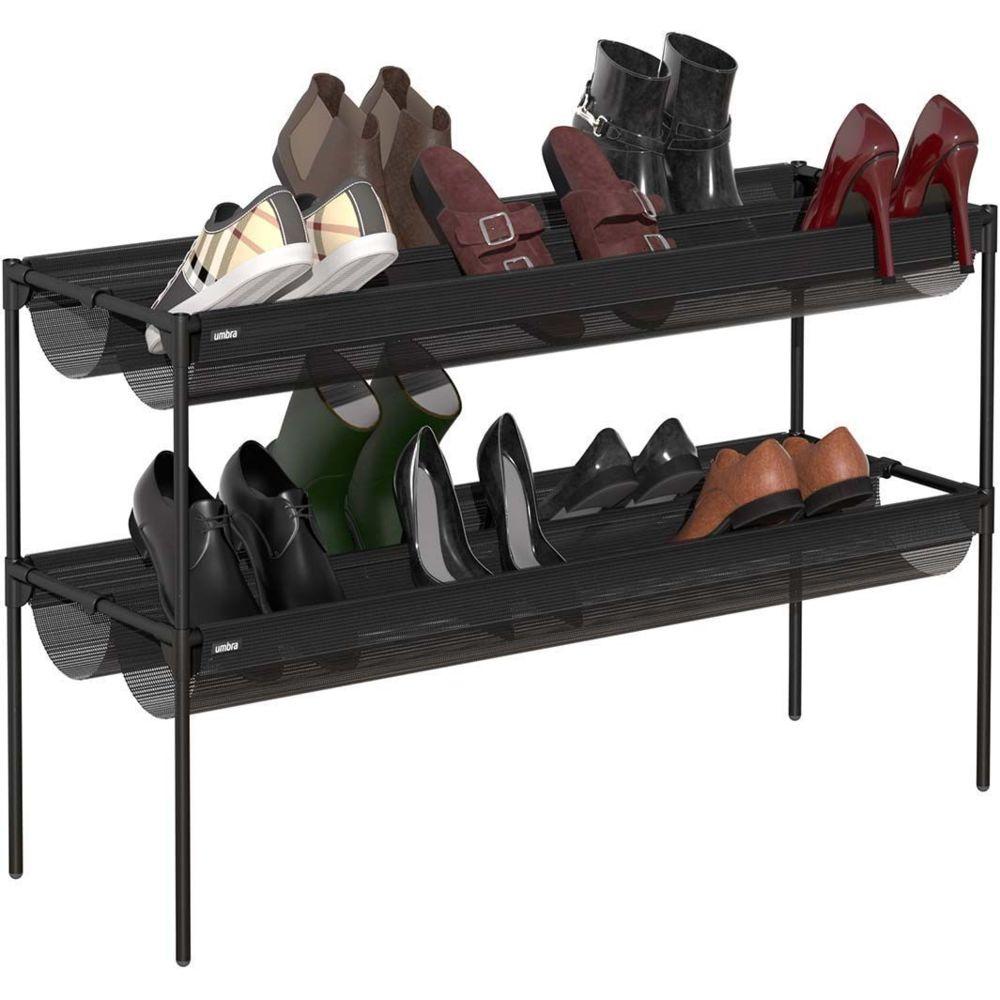 Umbra Etagère à chaussures en métal 16 paires