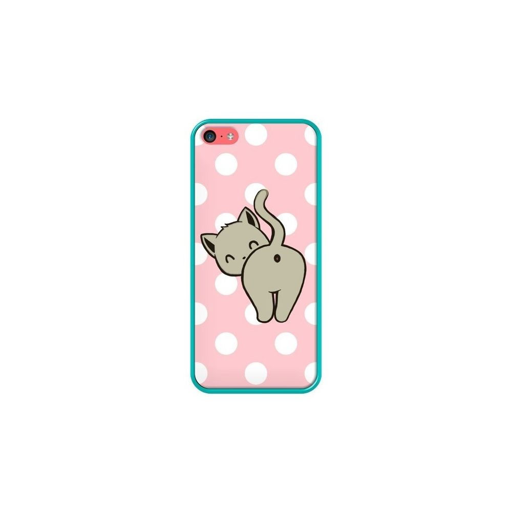 Apple - Coque iPhone 5C Chat Chaton Pois - Maryline Cazenave ...