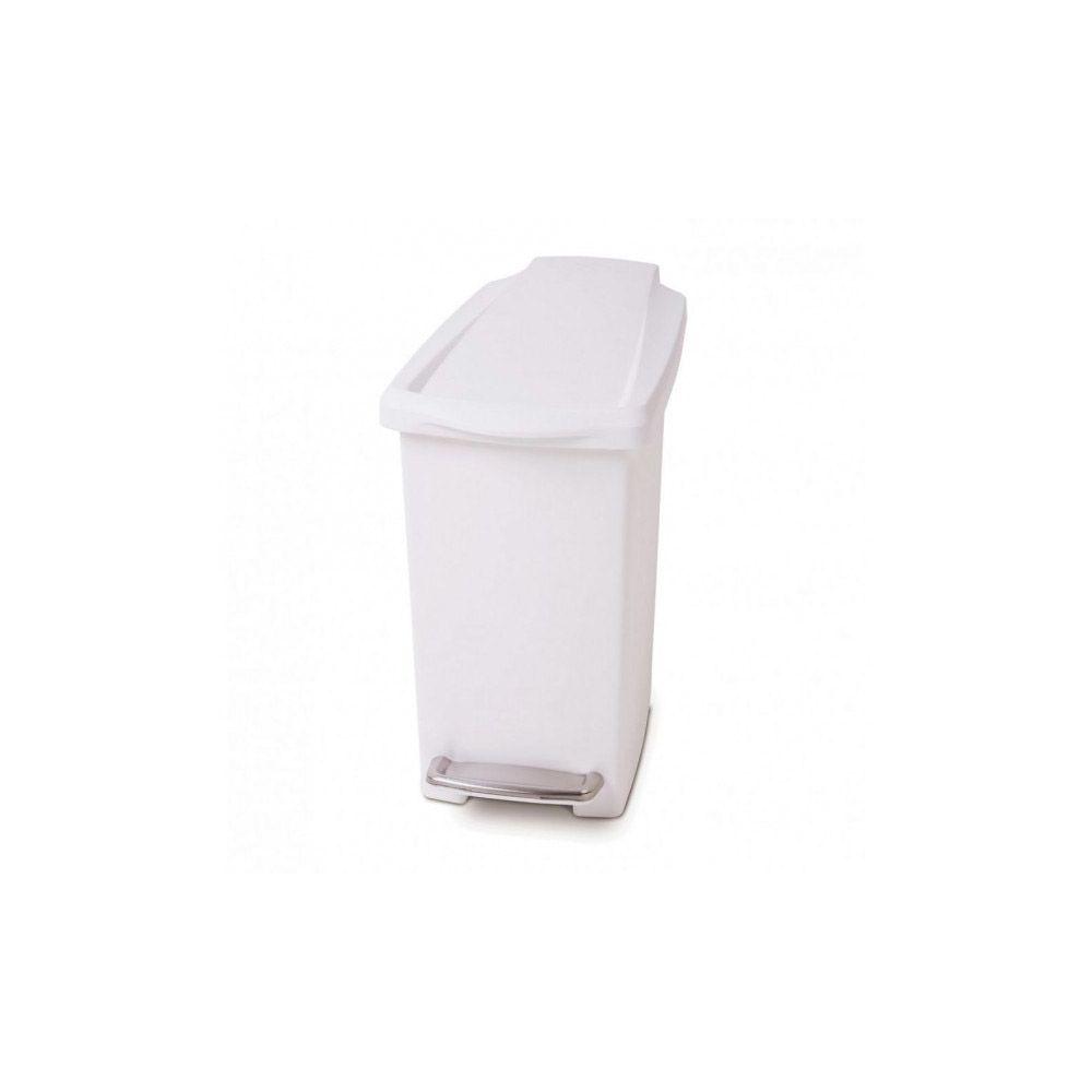 Simplehuman simplehuman - poubelle étroite à pédale 10l blanc - cw1332
