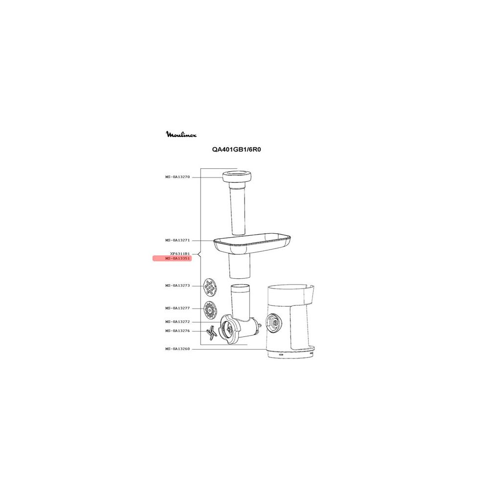 Moulinex HACHOIR COMPLET BLANC POUR PETIT ELECTROMENAGER MOULINEX - MS-0A13351
