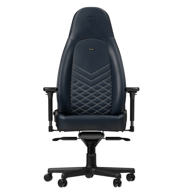 Noblechairs - ICON - Vrai Cuir - Bleu nuit - Chaise gamer