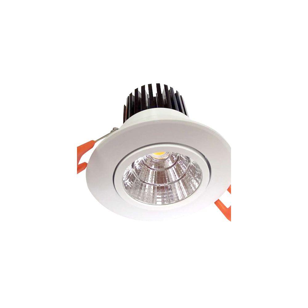 Girard Sudron Cavell Spot LED encastré inclinable IP42 - 10W - 3000K - Blanc + Driver 168875 inclus