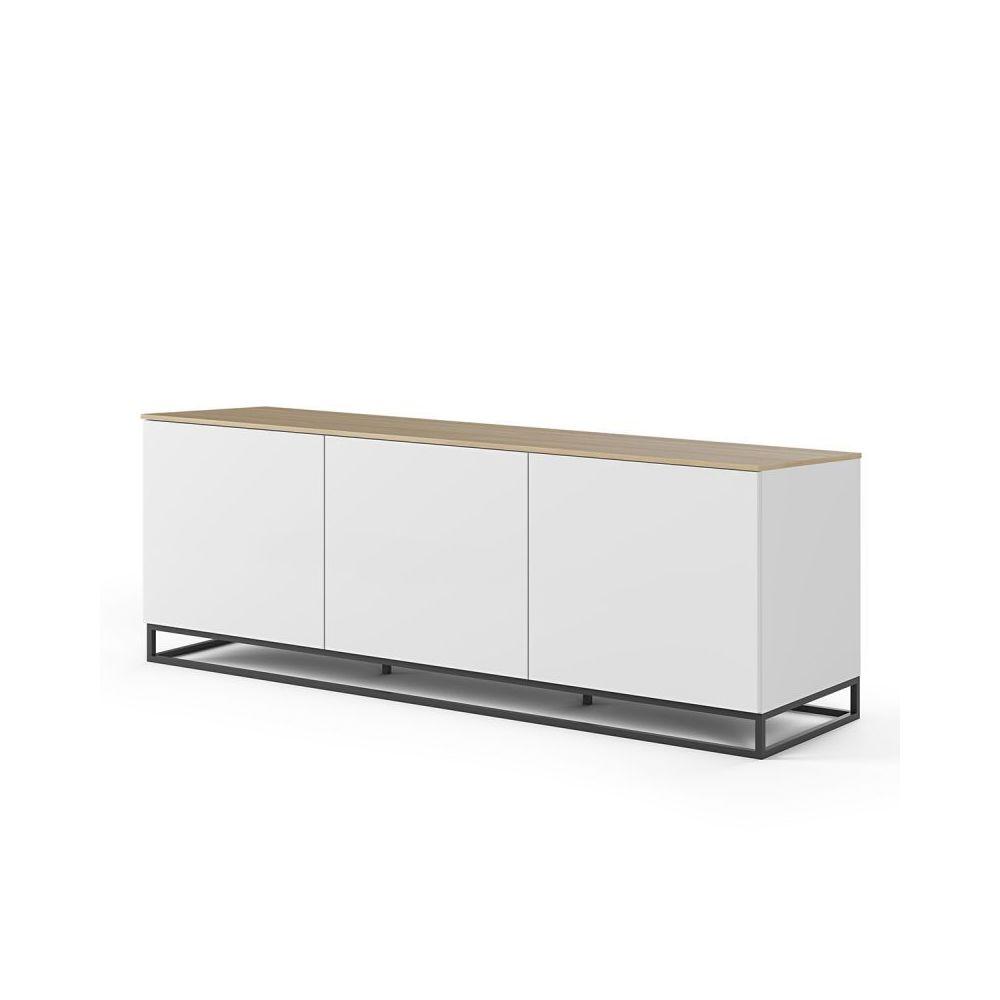 Paris Prix TemaHome - Buffet Design Join XI 180cm Blanc & Chêne
