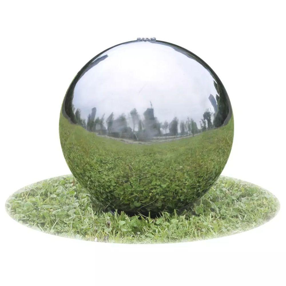 Vidaxl Fontaine de jardin sphère avec LED en acier inoxydable 20 cm |