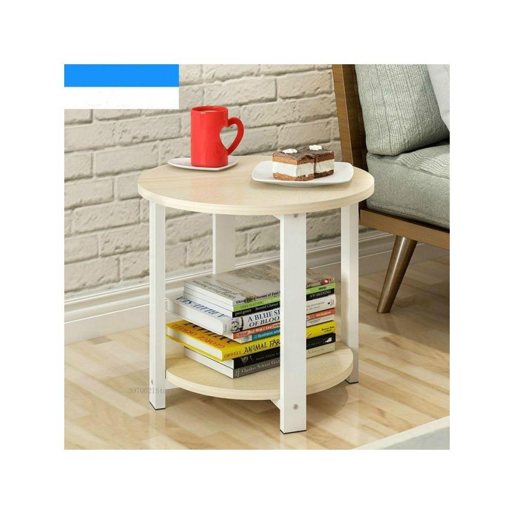 Wewoo Table basse ronde en bois de salon moderne simple de sofa de chambre à coucher de de de taille petite tailletaille 50 *