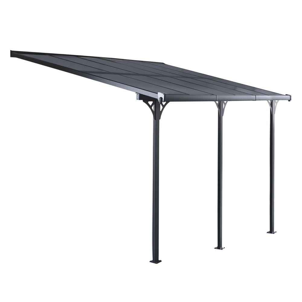 Gardiun Pergola Gardiun Elliot - 18,8 m² 619x305x227/272 cm Aluminium et Polycarbonate